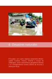 08. Capítulo 6. Desastres naturales.pdf - Flacso Andes