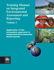 Training Manual on Integrated Environmental Assessment and ...