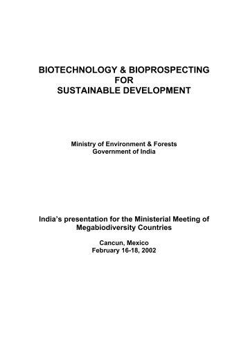 biotechnology & bioprospecting for sustainable development