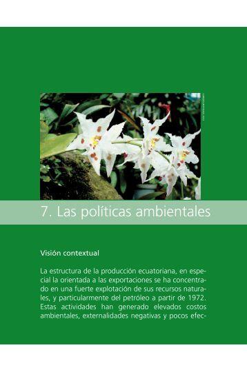 09. Capitulo 7. Politicas ambientales.pdf - Programa de Naciones ...