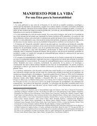 MANIFIESTO POR LA VIDA - Secretaria de Ambiente y Desarrollo ...