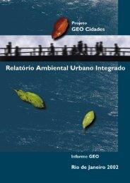 Projeto GEO Cidades Relatório Ambiental Urbano Integrado Informe ...