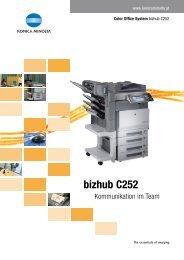 bizhub C252 - Easy Informations