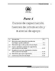 Parte 4 Cursos de capacitación, fuentes de información y material ...