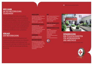 Flyer Kurs Heranbildung V3.indd - DRK-Schwesternschaft Berlin