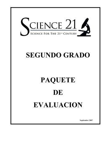 SEGUNDO GRADO PAQUETE DE EVALUACION - Boces