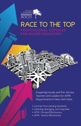 Race To The Top Professional Services for Higher Education - Boces