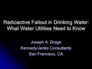Radioactive Fallout in Drinking Water: What Water ... - PNWS-AWWA