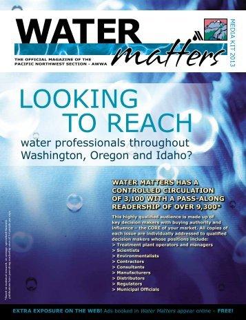 Water Matters Media Kit. - PNWS-AWWA