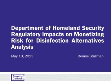 Department of Homeland Security Regulatory ... - PNWS-AWWA
