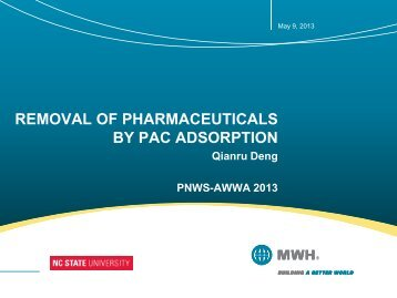 removal of pharmaceuticals by pac adsorption - PNWS-AWWA