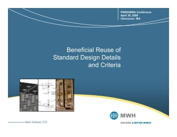 Beneficial Reuse of Standard Design Details and ... - PNWS-AWWA