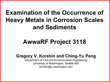 res_thpm_korshin_heavy metal corrosion scales.pdf ... - PNWS-AWWA