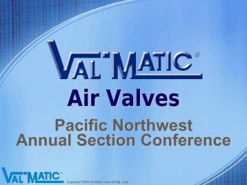 Air Valves - PNWS-AWWA
