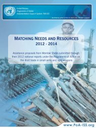 MATCHING NEEDS AND RESOURCES 2012 - 2014 - PoA-ISS