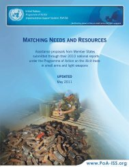 Matching needs and resources: Assistance proposals ... - PoA-ISS