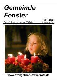 Gemeinde Fenster - Ev.-ref. Kirchengemeinde Wülfrath