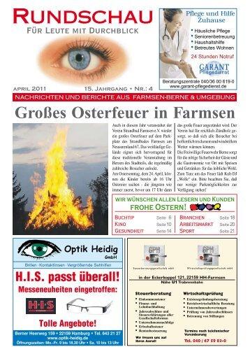 es Osterfeuer In Farmsen - Rundschau – Für Leute mit Durchblick