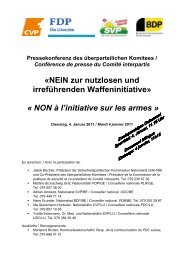 «NEIN zur nutzlosen und irreführenden Waffeninitiative ... - CVP