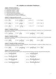 Aufgaben zu rationalen Funktionen - Poenitz-Net
