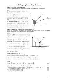 5.5. Prüfungsaufgaben zur Integralrechnung - Poenitz-Net