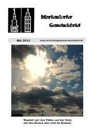 Mai 2012 - Evangelische Kirchengemeinde Mariendorf