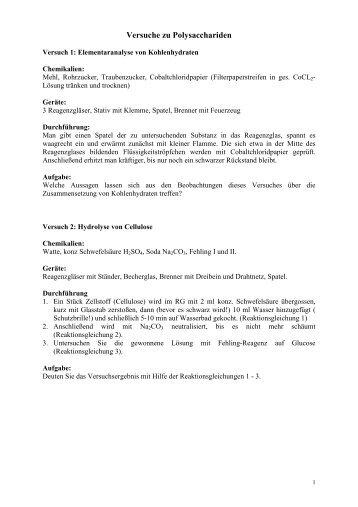 Versuche zu Polysacchariden - Poenitz-Net