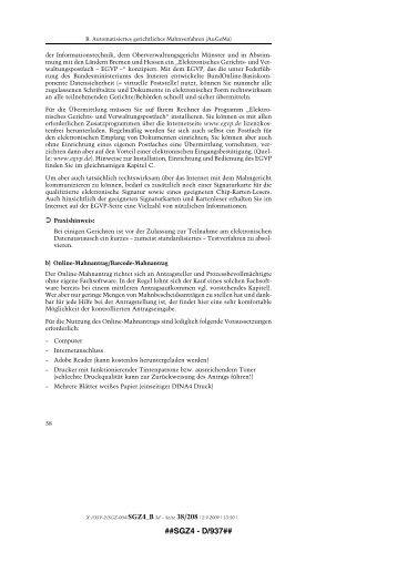 Broschüre Mahnverfahren Wissenswertes Und Hilfestellungen