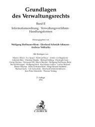 Grundlagen des Verwaltungsrechts Band II ... - Soldan.de