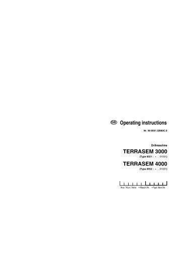 TERRASEM 3000 TERRASEM 4000 Operating instructions