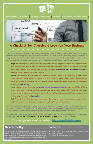A Checklist for Choosing a Logo for Your Business