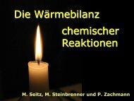 Die Wärmebilanz chemischer Reaktionen - pohlig