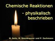 Chemische Reaktionen - physikalisch beschrieben - pohlig