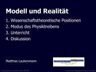 Modell und Realitär - pohlig