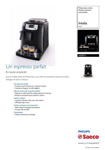 HD8751/11 Philips Machine espresso automatique - Point Café