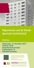 MigrantInnen und die Wende - ignorierte Geschichte(n)? Workshop ...