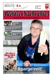 Beelitzer Nachrichten - Mai 2014