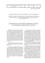 ECTOPARASITES OF THE EDIBLE DORMOUSE GLIS GLIS L. OF ...