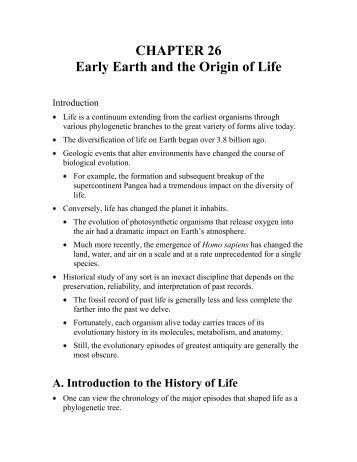 CHAPTER 26 Early Earth and the Origin of Life