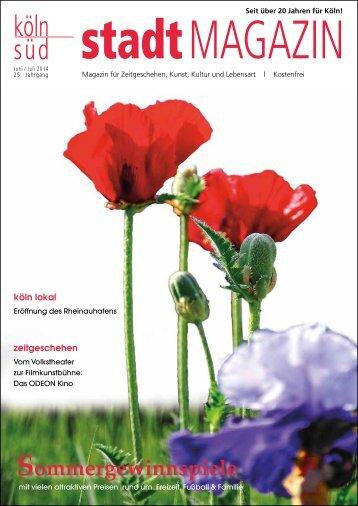 stadtMAGAZIN köln-süd | Ausgabe Juni/Juli 2014