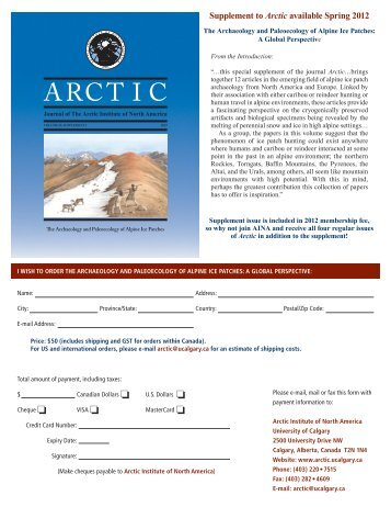 The Archaeology and Paleoecology of Alpine Ice Patches