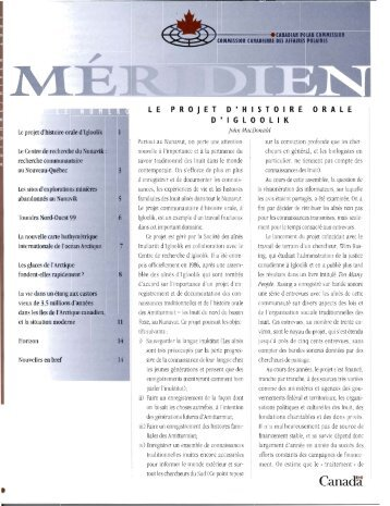 ARCHIVÉ-Méridien automne/hiver, 2001 [PDF-1.50 MB]