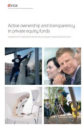 Active ownership and transparency in private equity funds