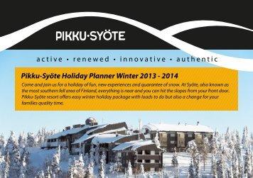 Pikku-Syöte Holiday Planner Winter 2012-13