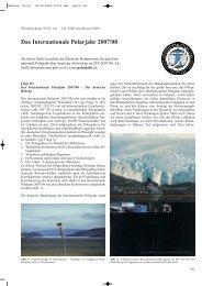 Das Internationale Polarjahr 2007/08 – Der deutsche Beitrag