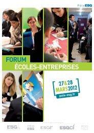 4-PAGES forumEE 2012:Mise en page 1 - Pôle ESG