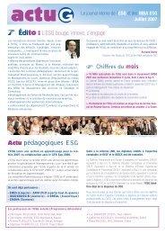 Actu pédagogiques ESG