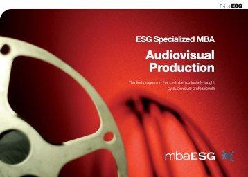ESG Specialized MBA Audiovisual Production