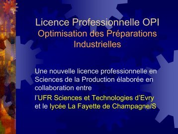 Licence pro OPI - Pôle Sud Paris