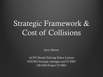 Strategic Framework & Cost of Collisions